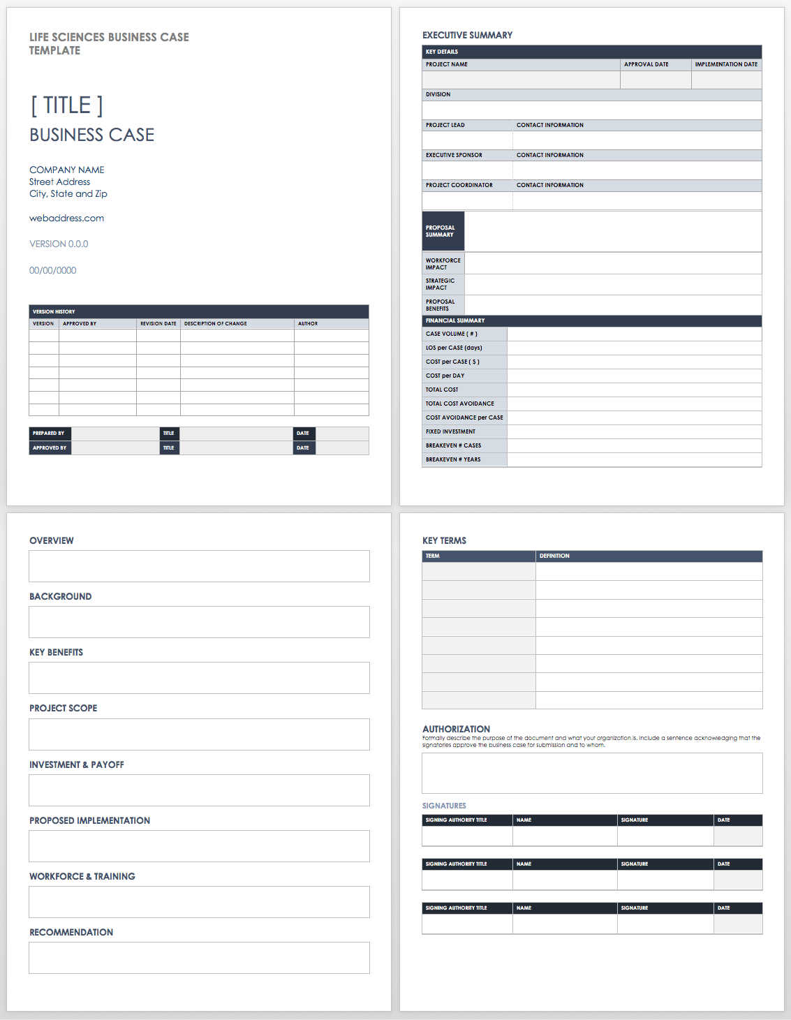 Free Project Business Case Template Excel With Project Business Case Template Excel Free Download