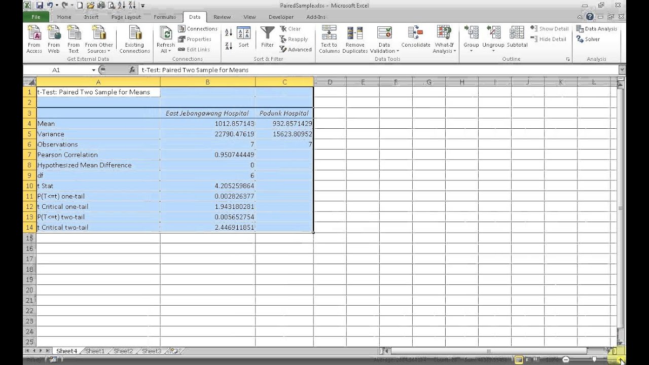 Free Two Sample T Test Excel To Two Sample T Test Excel Letters