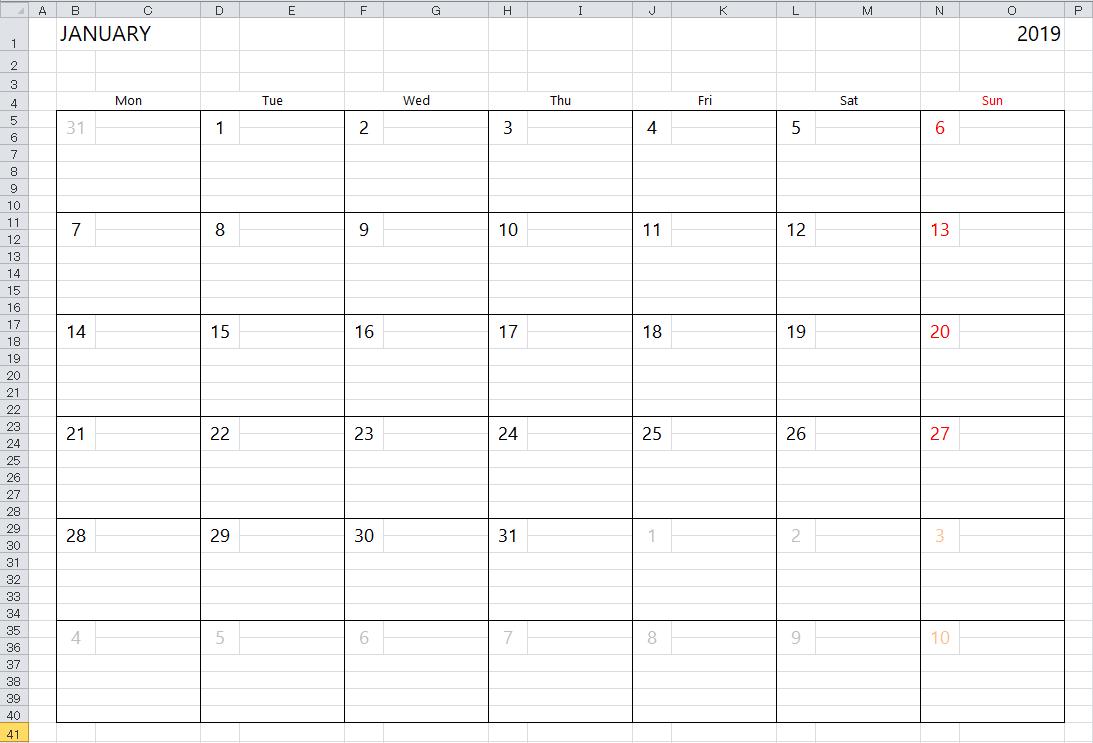 Letter Of 2018 Calendar Template Excel With 2018 Calendar Template Excel In Workshhet