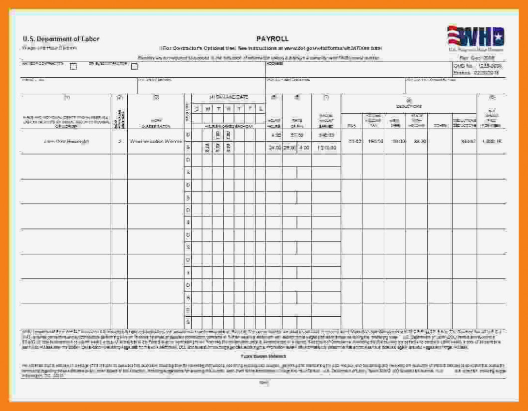 Letter Of Certified Payroll Forms Excel Format In Certified Payroll Forms Excel Format Letter