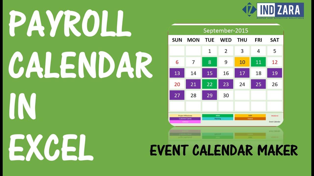 Letter Of Excel Payroll Calendar Template Within Excel Payroll Calendar Template Format