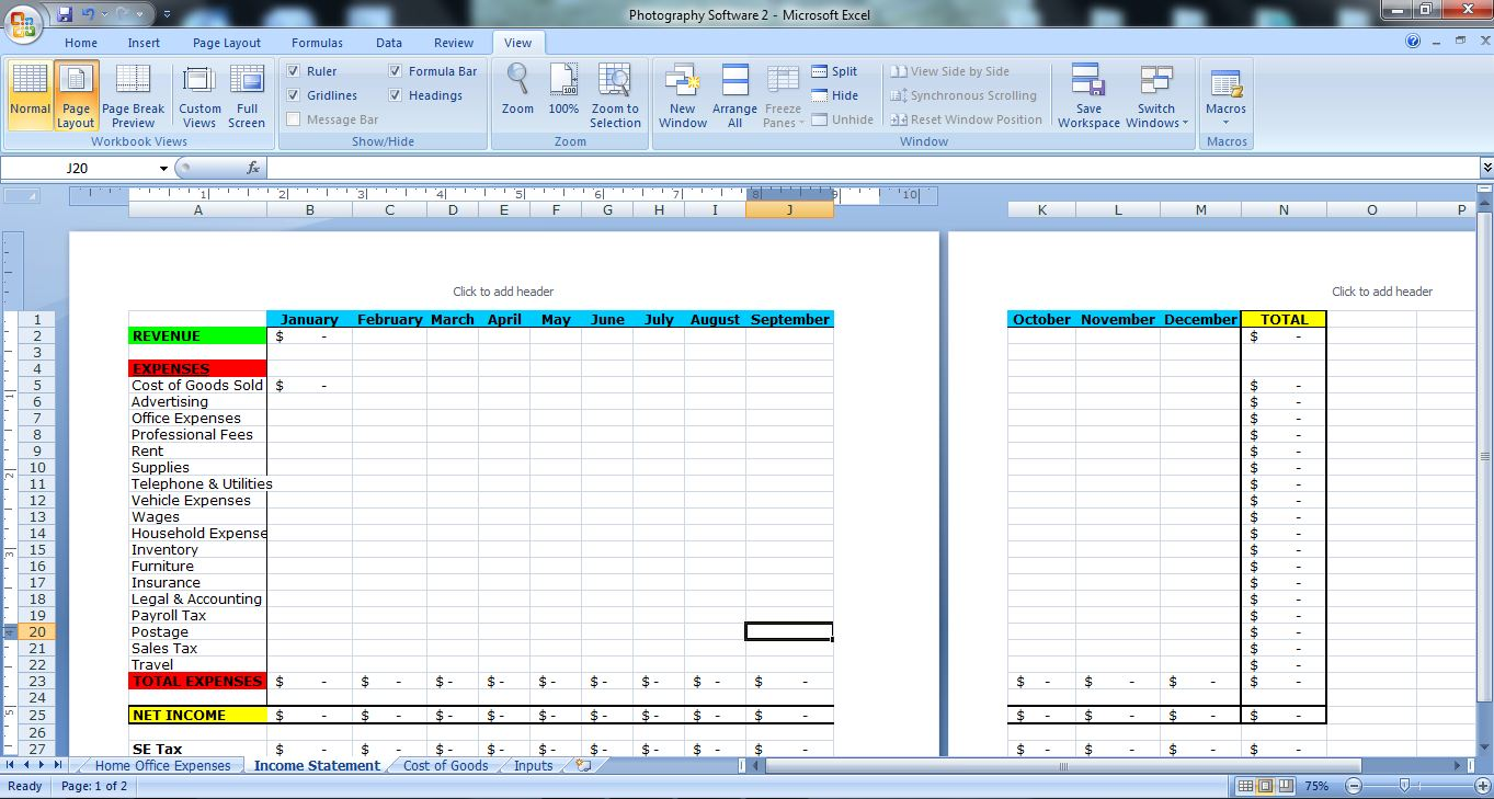 Letter Of Excel Templates For Photographers For Excel Templates For Photographers For Personal Use