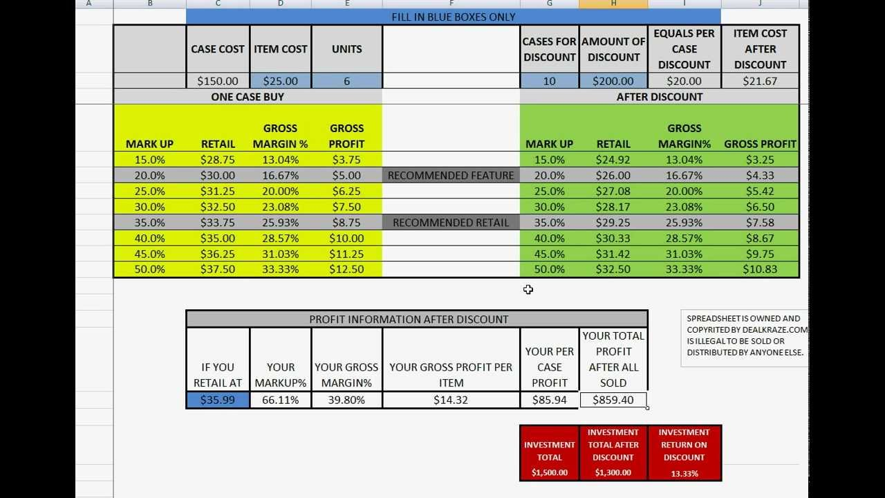 Letter Of Gross Margin Calculator Excel Template To Gross Margin Calculator Excel Template Xlsx