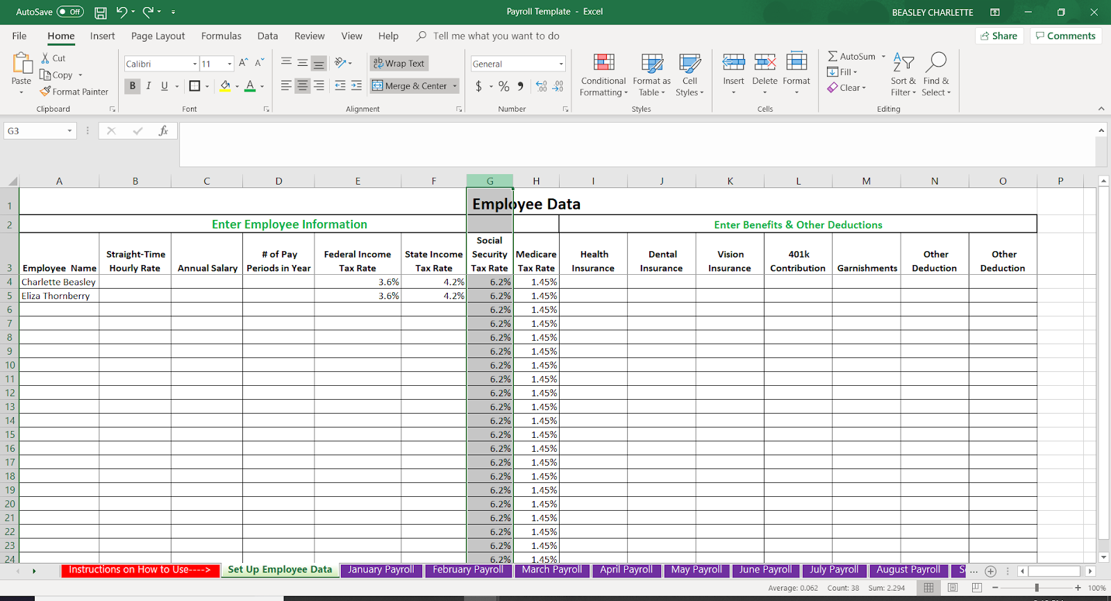 Letter Of Payroll Template Excel Intended For Payroll Template Excel Xls