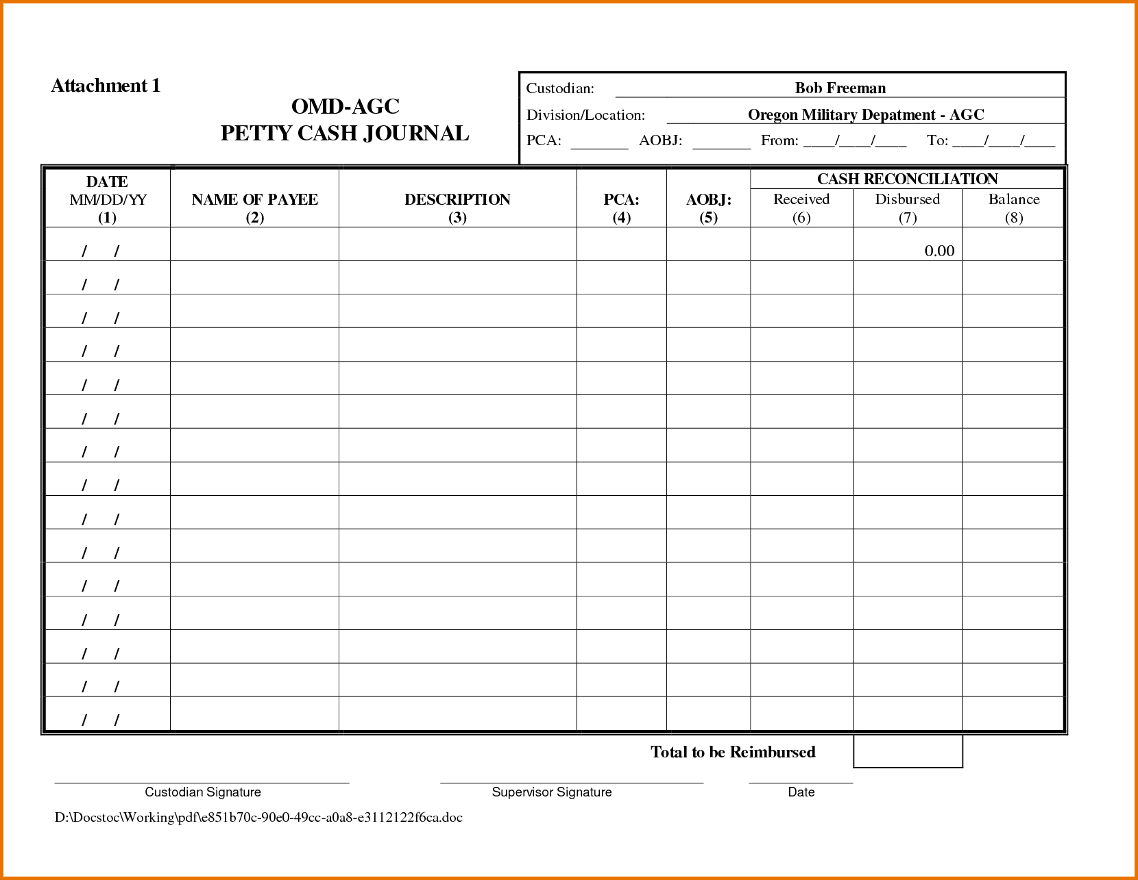 Letter Of Petty Cash Reconciliation Template Excel Inside Petty Cash Reconciliation Template Excel Download For Free