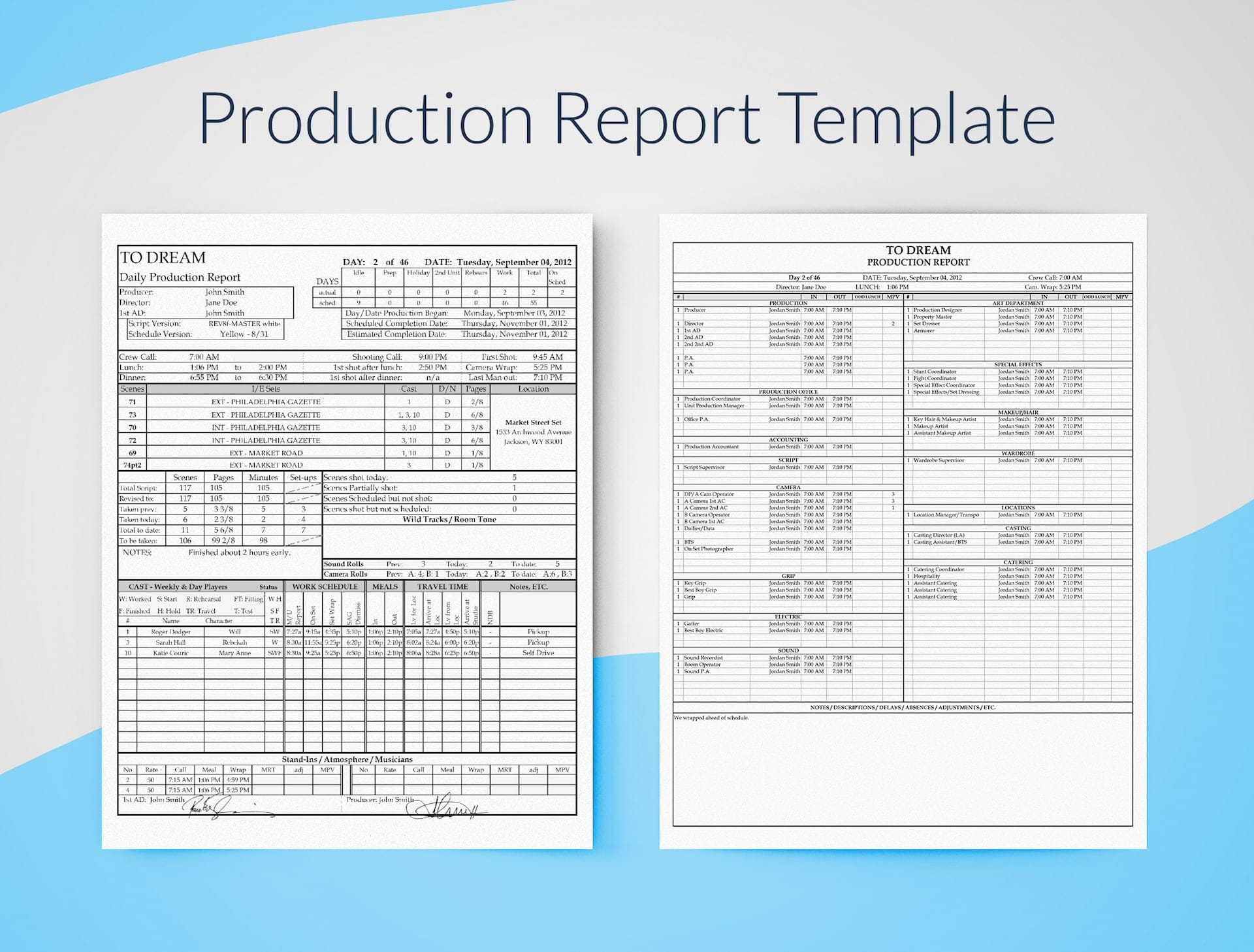 Letter Of Production Report Template Excel And Production Report Template Excel For Personal Use