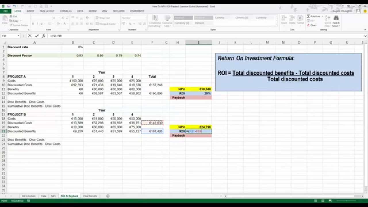 Letter Of Roi Excel Template For Roi Excel Template Free Download