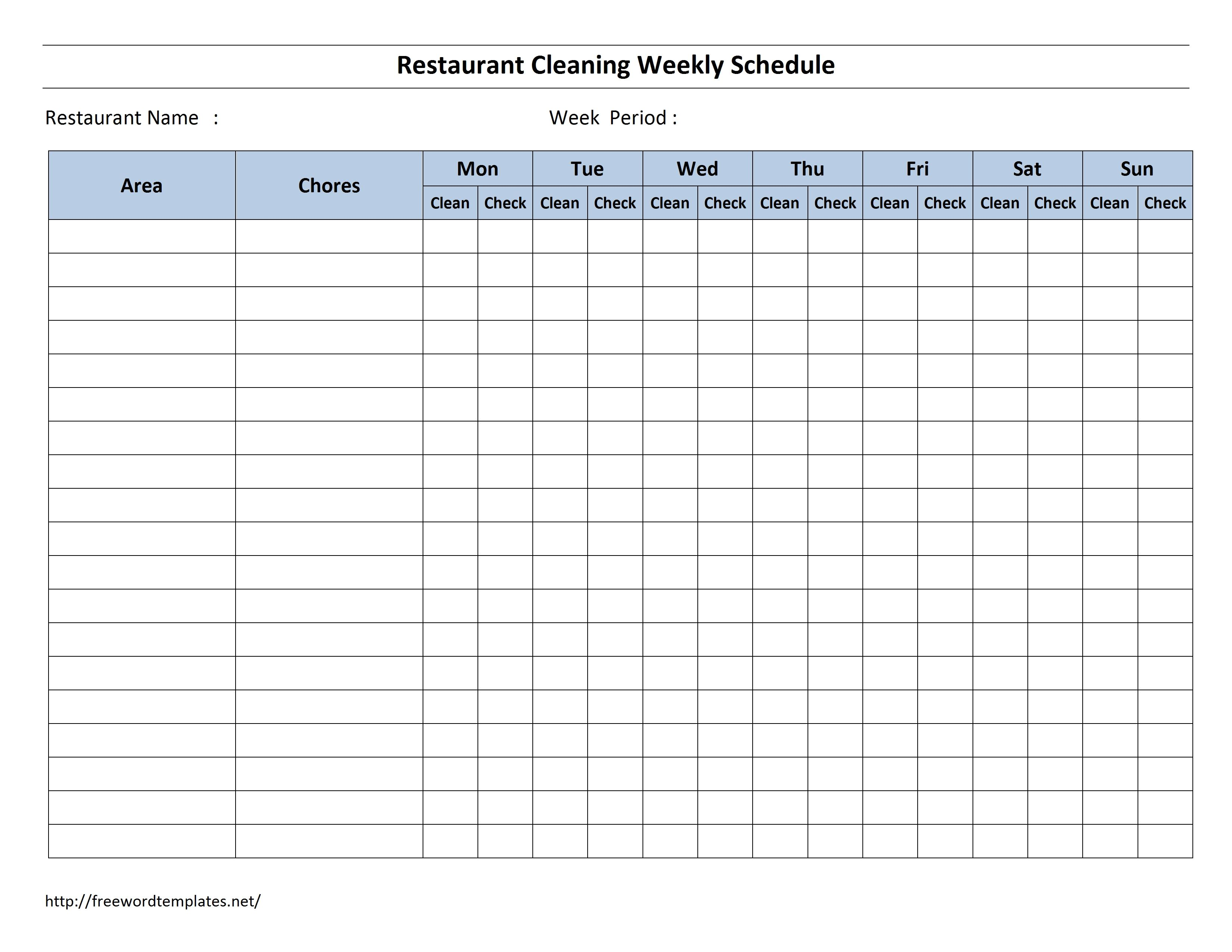 Letter Of Warehouse Cleaning Schedule Template Excel With Warehouse Cleaning Schedule Template Excel Letters