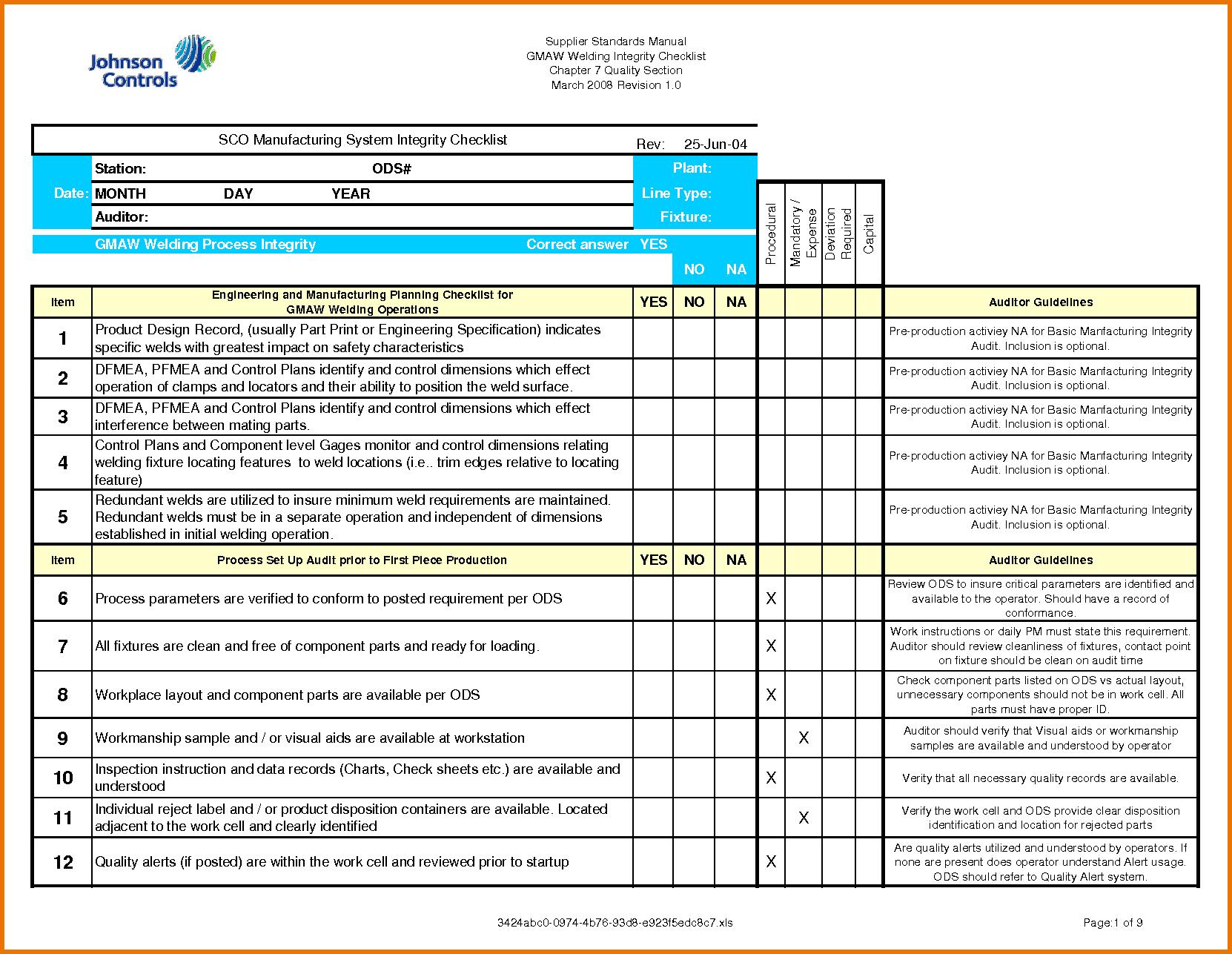 Letters Of Audit Template Excel Inside Audit Template Excel Download For Free