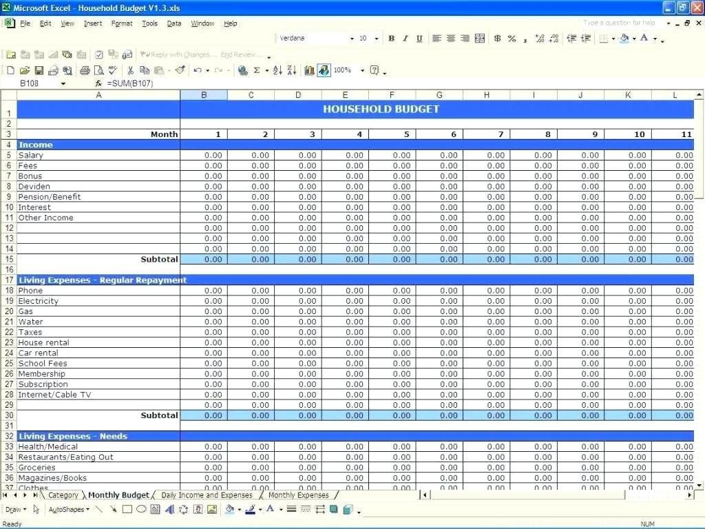 Letters of Budget Worksheet Excel intended for Budget Worksheet Excel Sample