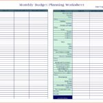 Letters Of Financial Planning Worksheet Excel With Financial Planning Worksheet Excel Letters