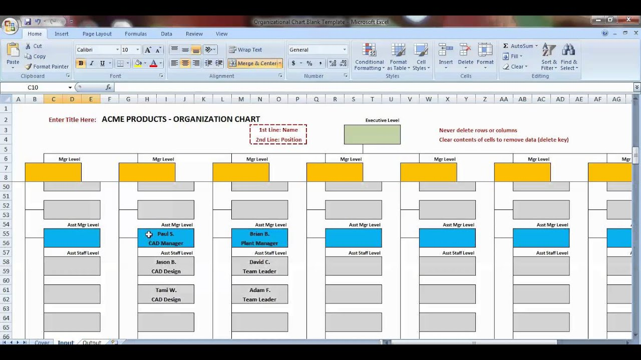 Letters Of Organization Chart Template Excel With Organization Chart Template Excel Xls