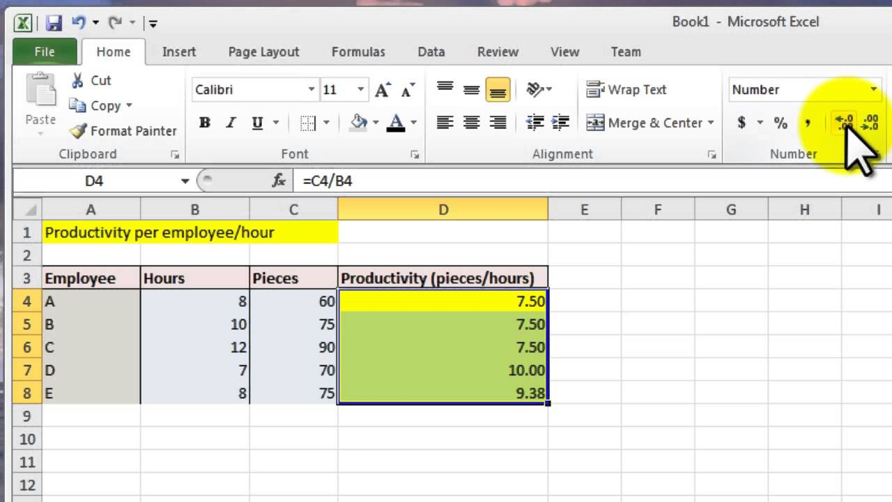 Letters Of Productivity Calculation Excel Template To Productivity Calculation Excel Template For Google Spreadsheet