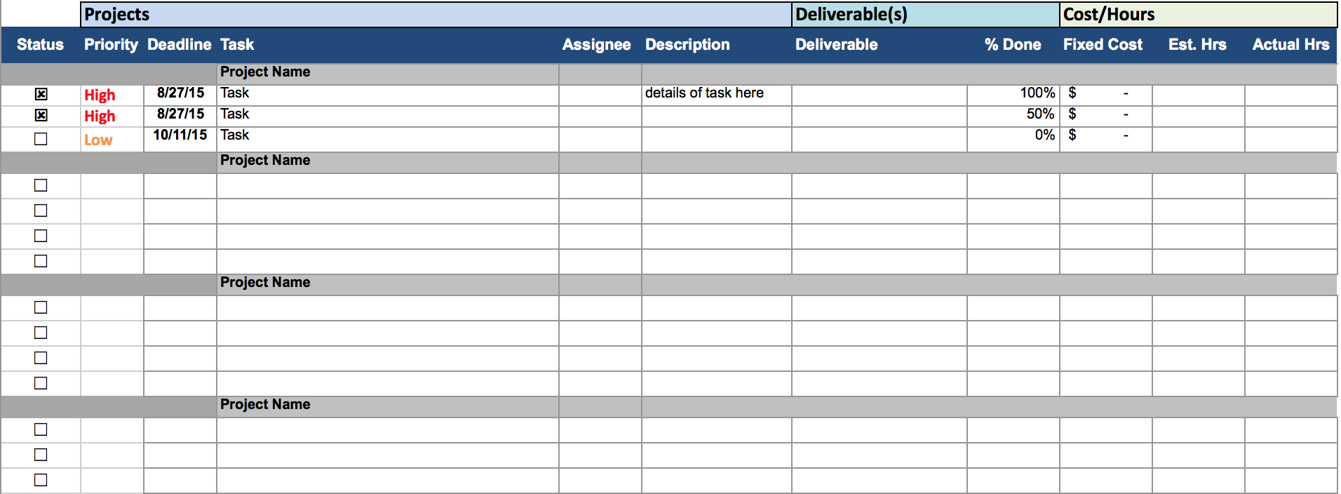 Letters of Project Spreadsheet Template Excel intended for Project Spreadsheet Template Excel Sheet