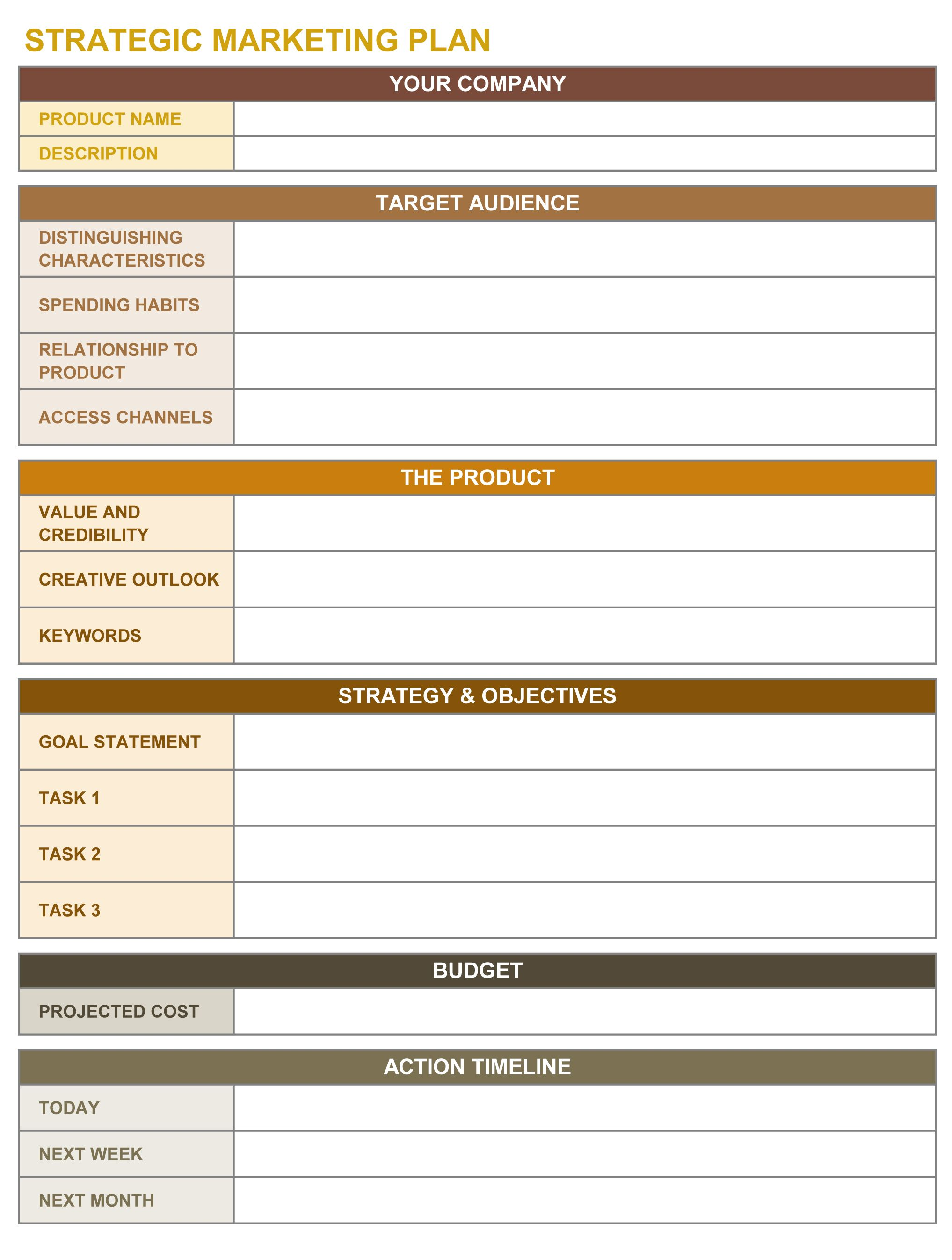 Letters Of Strategic Plan Template Excel Intended For Strategic Plan Template Excel Download