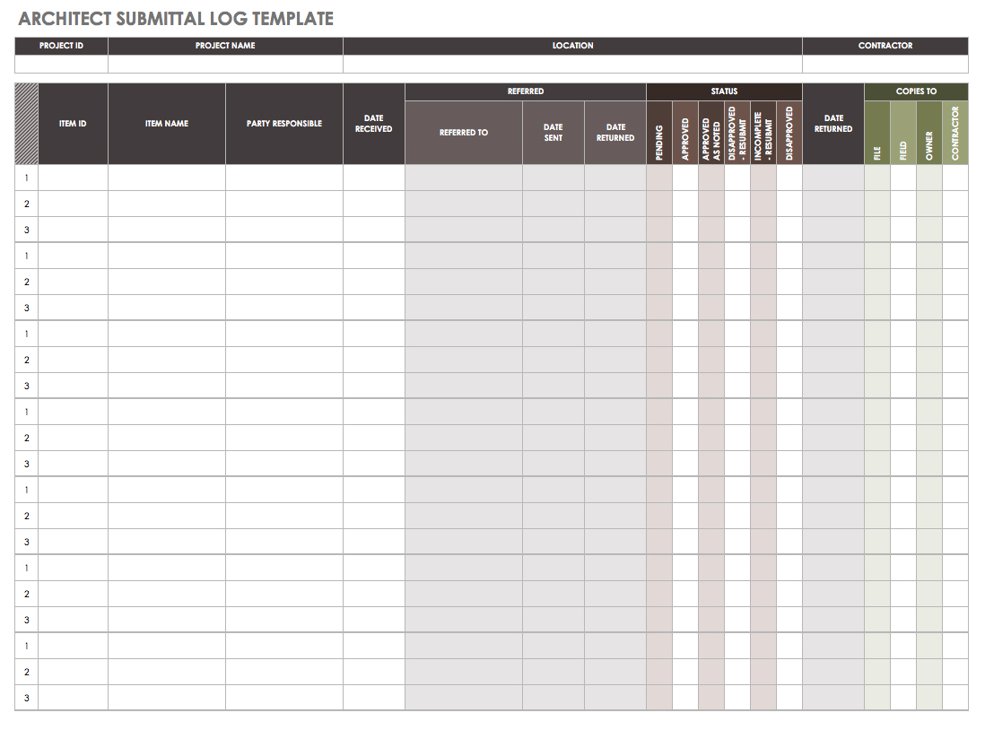 Letters Of Submittal Schedule Template Excel With Submittal Schedule Template Excel Letter