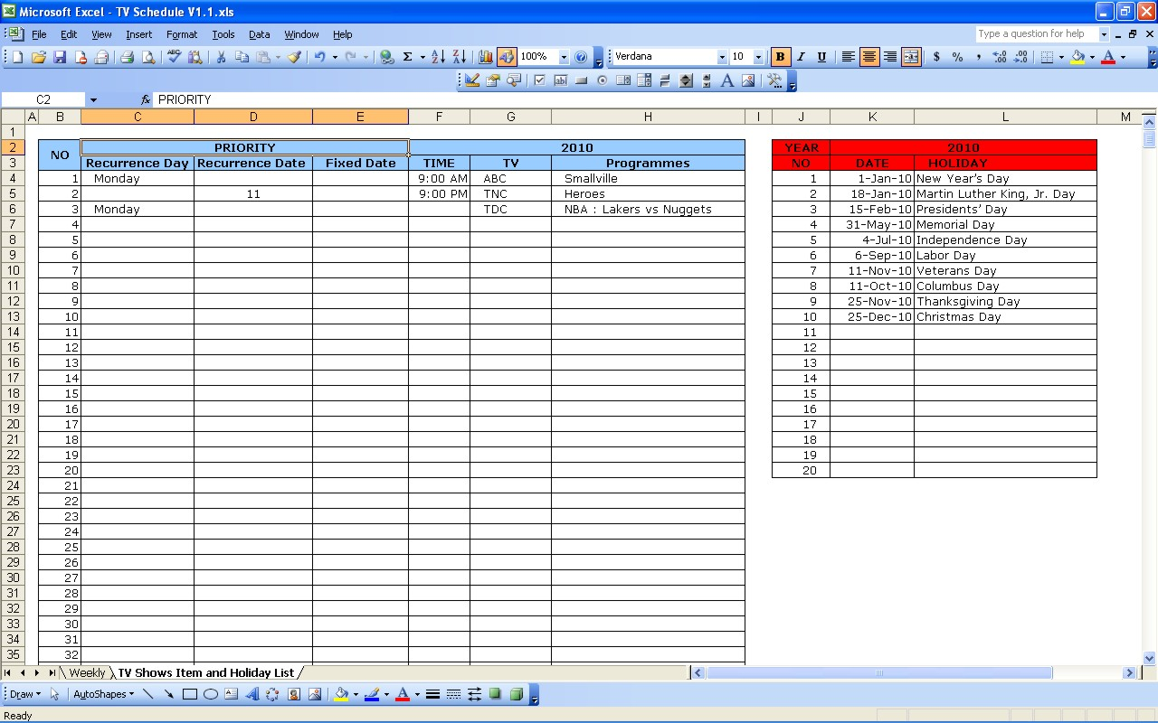 Letters Of Tv Rundown Excel Template In Tv Rundown Excel Template For Google Sheet