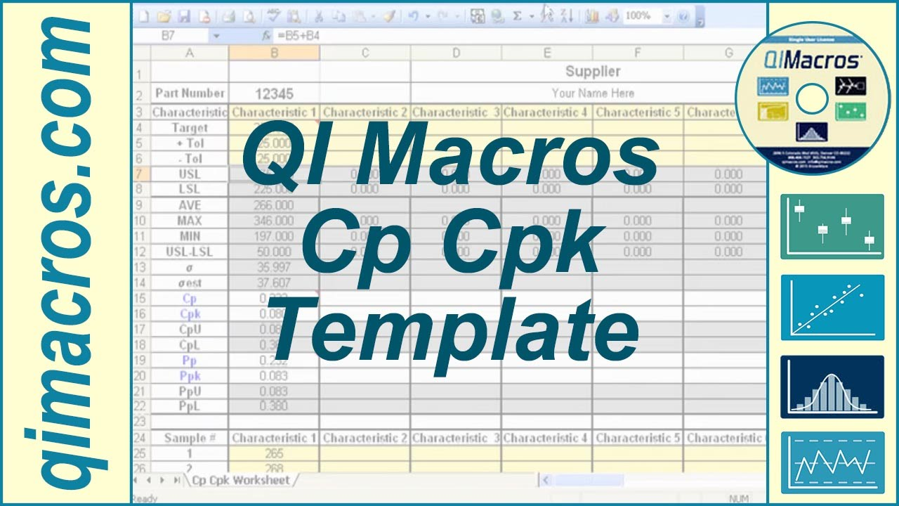 Personal Cpk Ppk Excel Template To Cpk Ppk Excel Template Printable