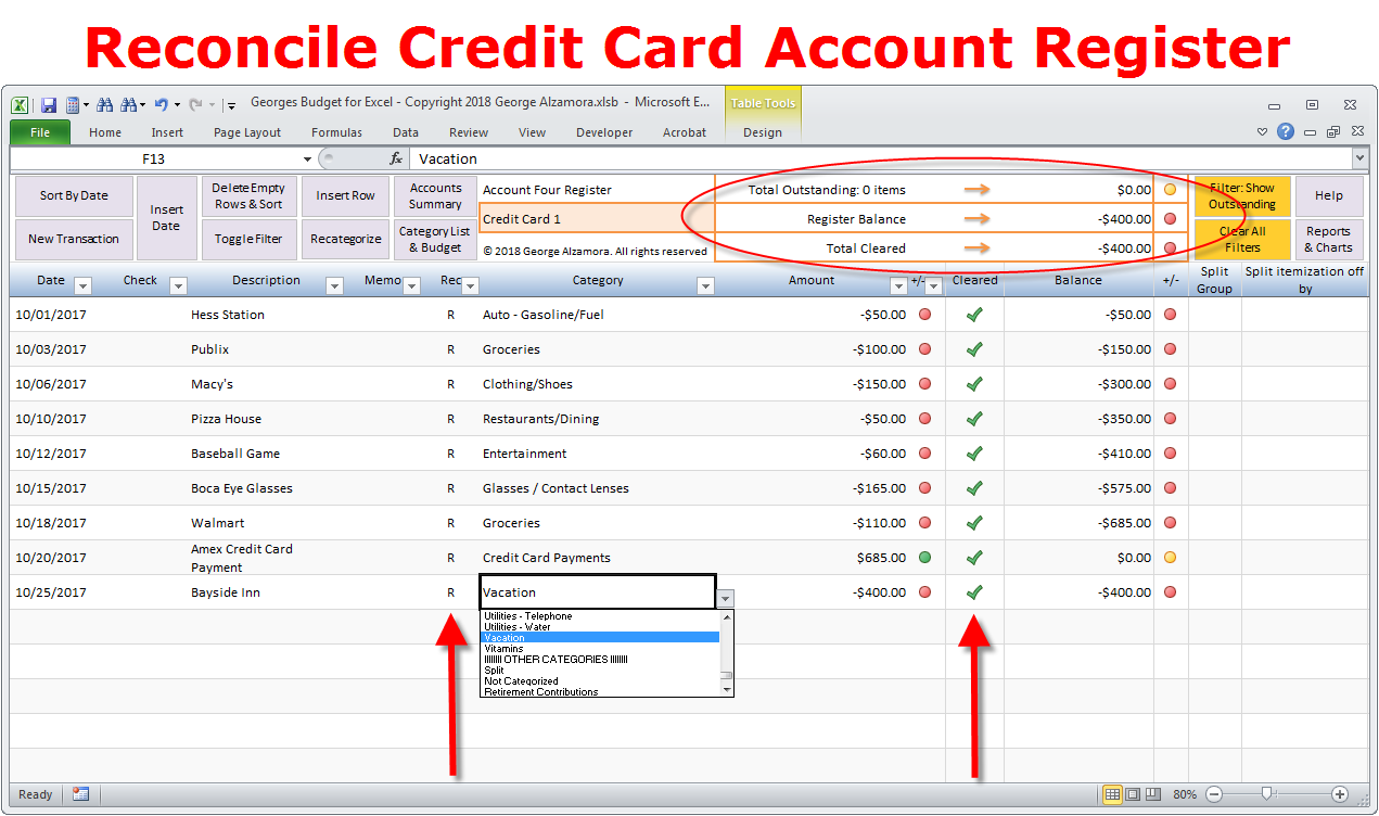 Personal Credit Card Reconciliation Template In Excel To Credit Card Reconciliation Template In Excel Samples