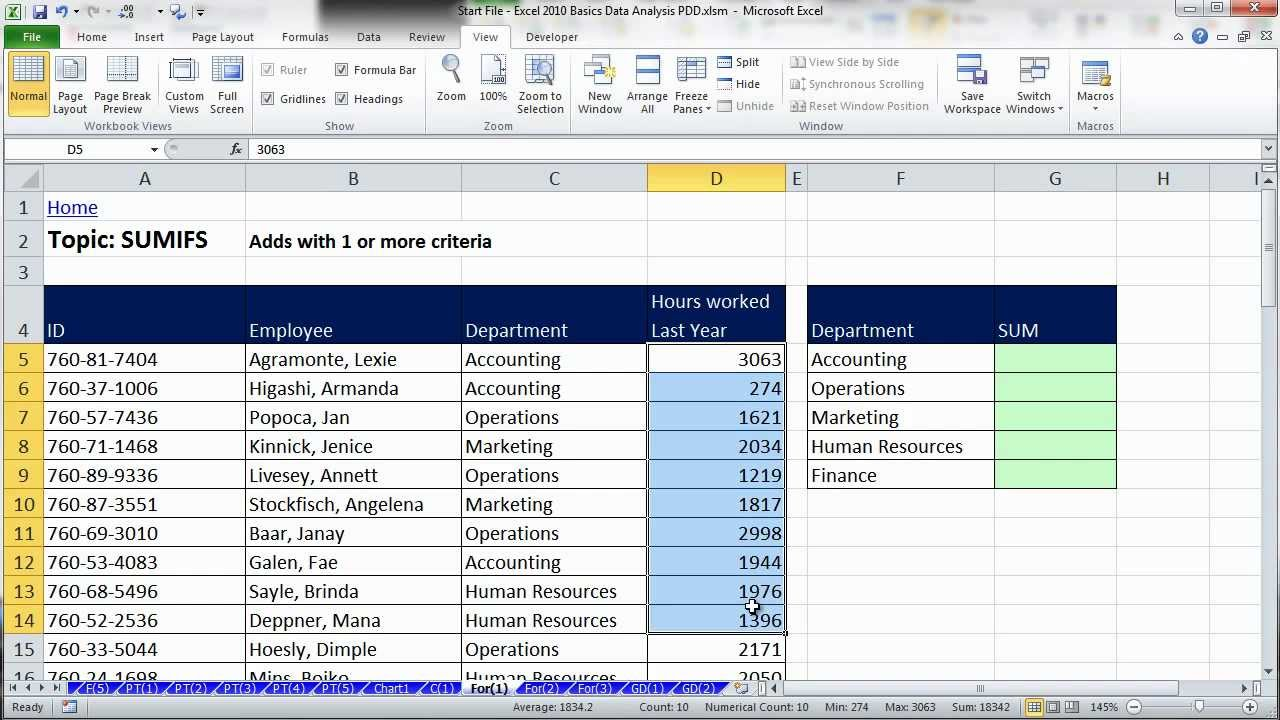 Personal Excel Data Analysis Examples Intended For Excel Data Analysis Examples Xls