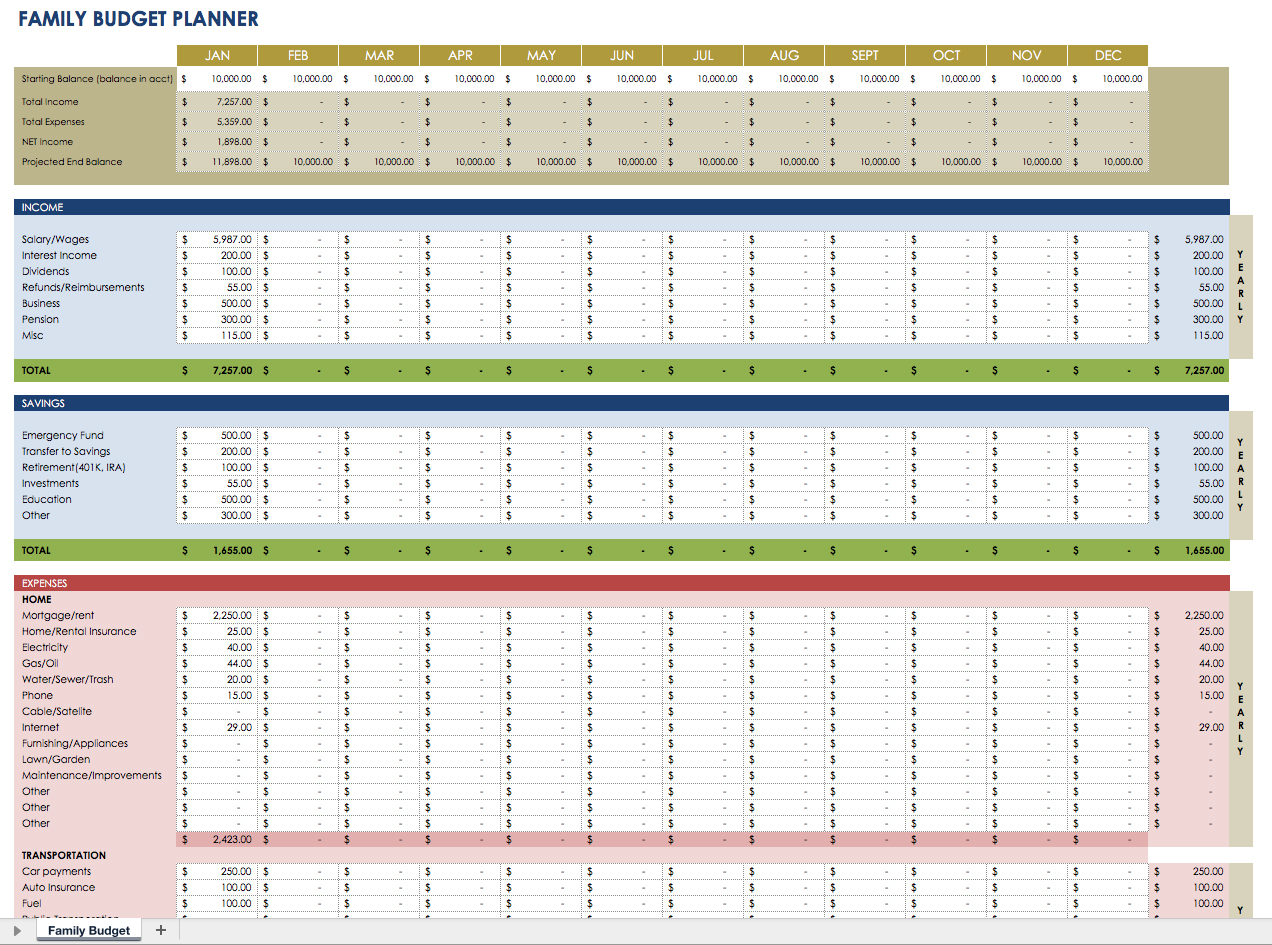 Personal Financial Plan Template Excel In Financial Plan Template Excel Examples