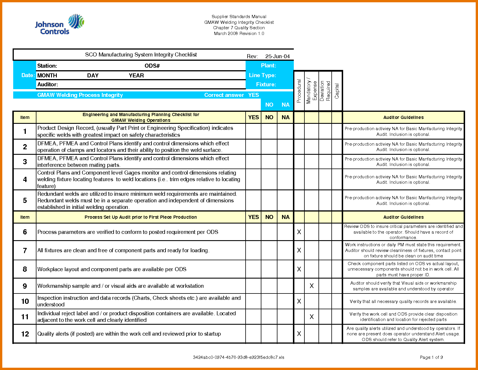 Personal Iso 9001 2015 Checklist Excel Template Throughout Iso 9001 2015 Checklist Excel Template Examples
