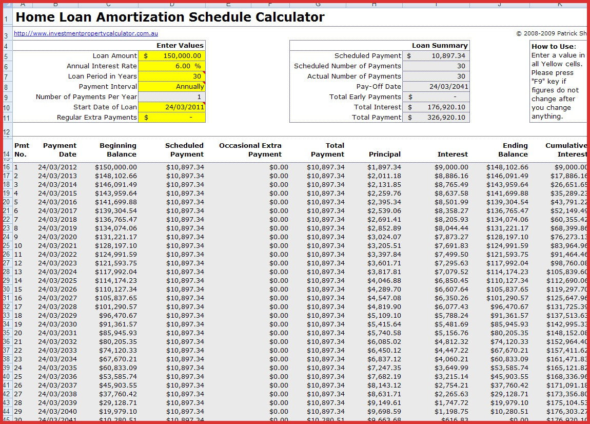 Personal Mortgage Amortization Schedule Excel Template With Extra Payments Within Mortgage Amortization Schedule Excel Template With Extra Payments Example