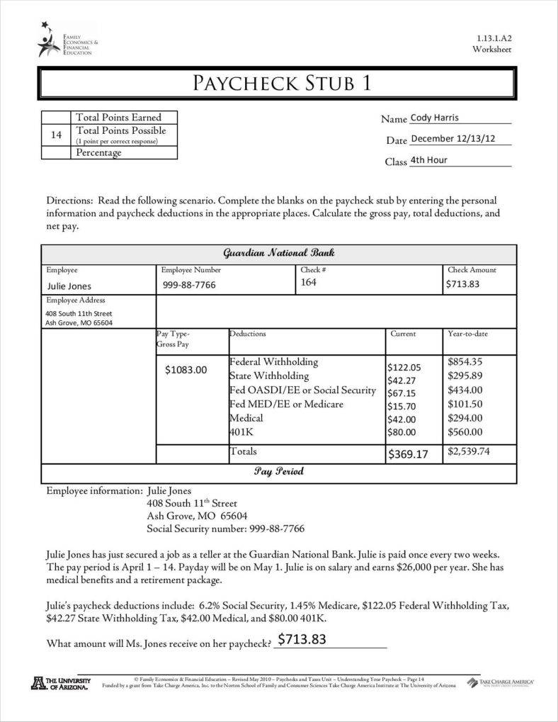 Personal Pay Stub Template Excel To Pay Stub Template Excel For Google Sheet