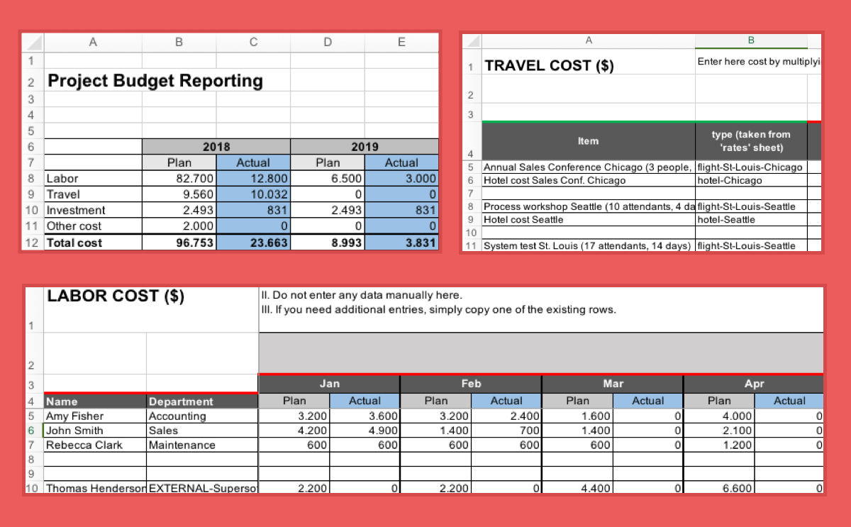 Personal Project Budget Template Excel To Project Budget Template Excel Example