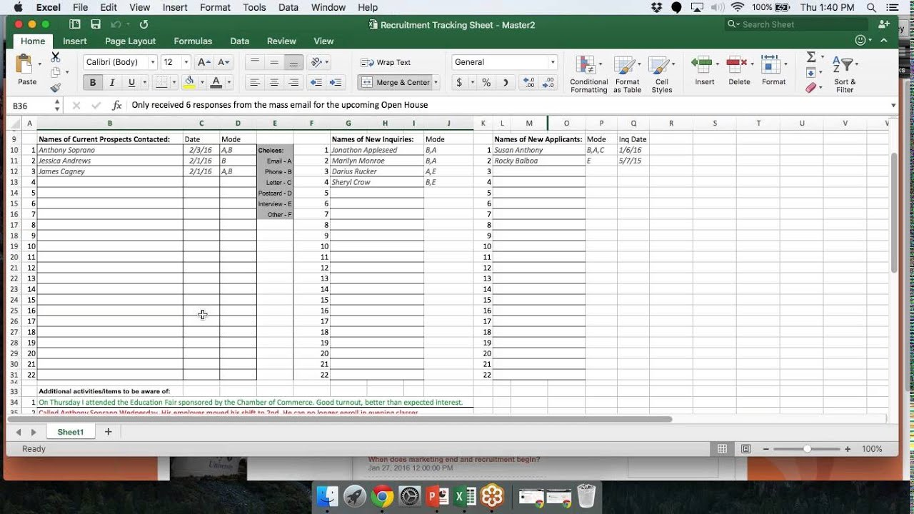 Personal Recruitment Tracker Excel Template Within Recruitment Tracker Excel Template Download For Free