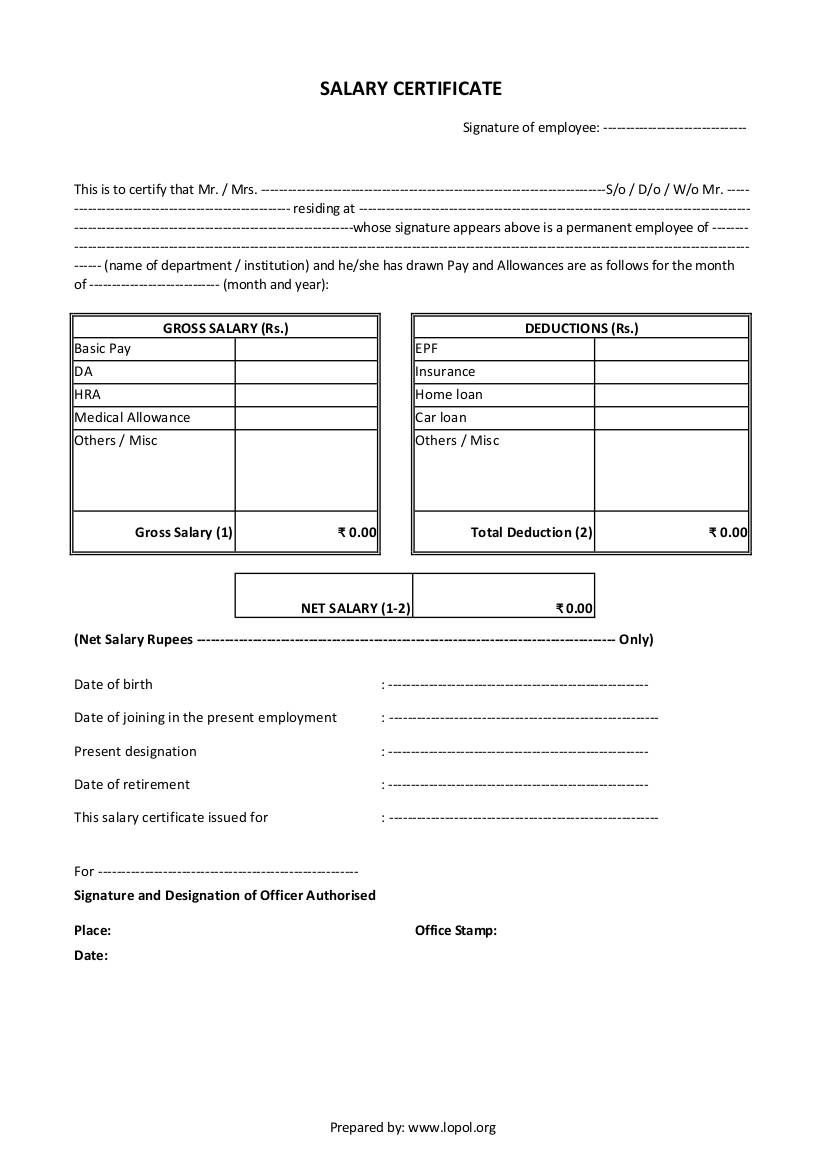 Personal Salary Statement Format In Excel In Salary Statement Format In Excel In Excel