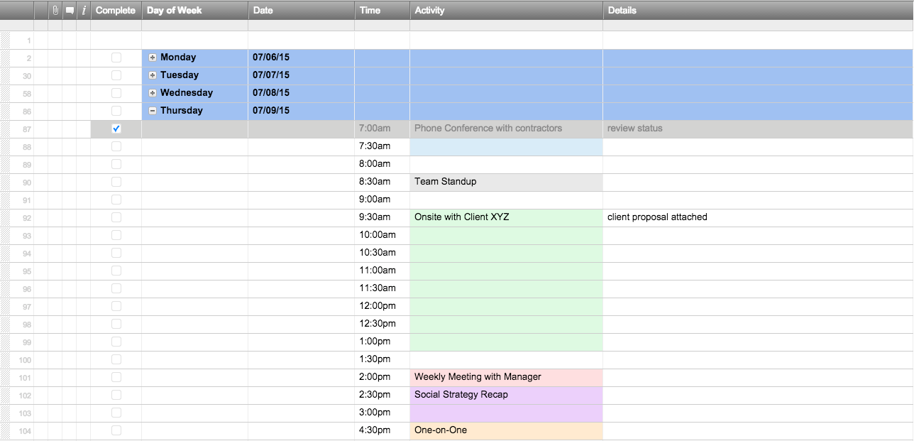 Personal Scheduling Spreadsheet With Scheduling Spreadsheet In Excel