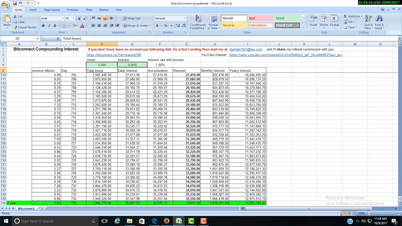 Printable Bitconnect Excel Spreadsheet Intended For Bitconnect Excel Spreadsheet For Google Spreadsheet