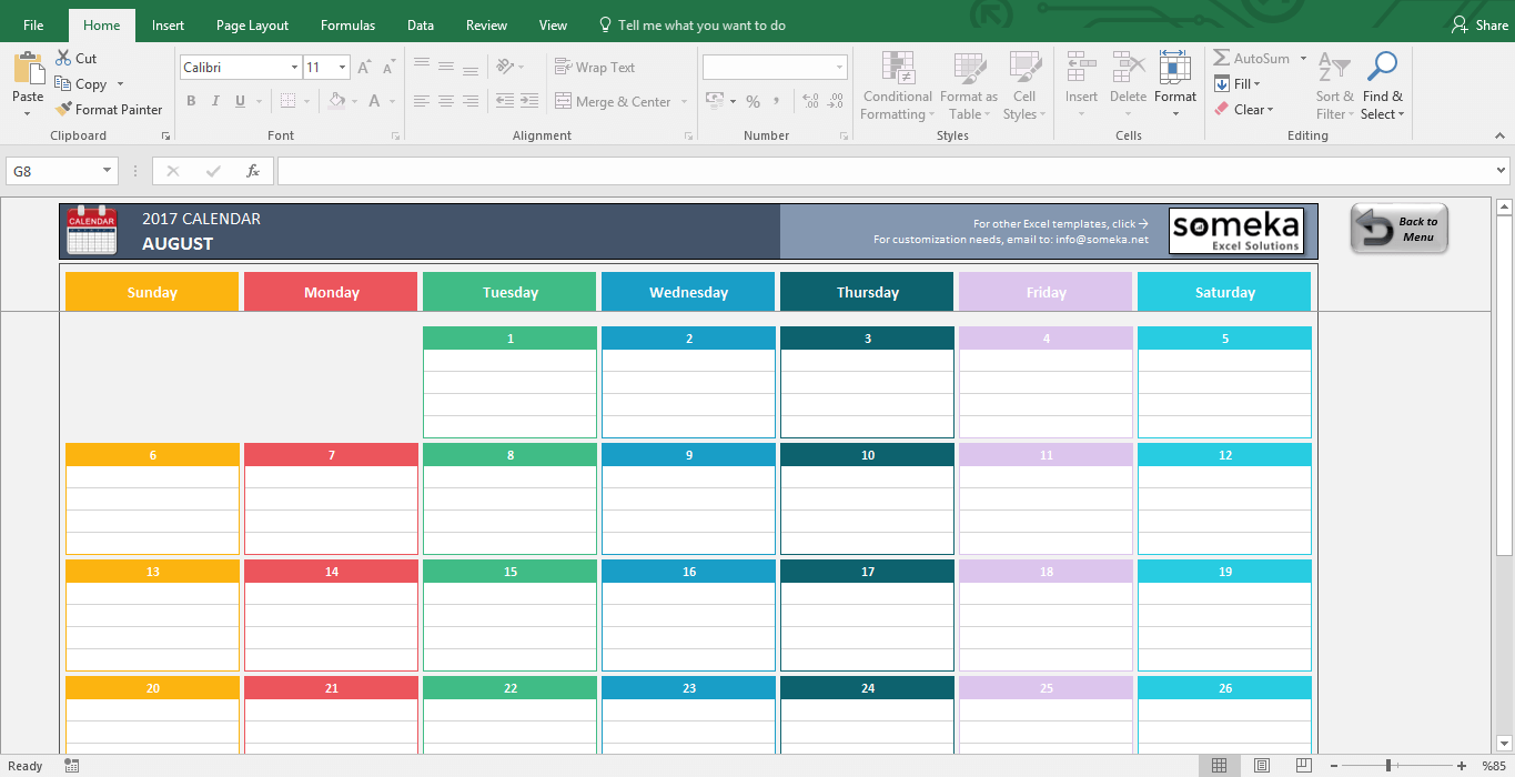 Printable Excel Calendar Template Intended For Excel Calendar Template Letters