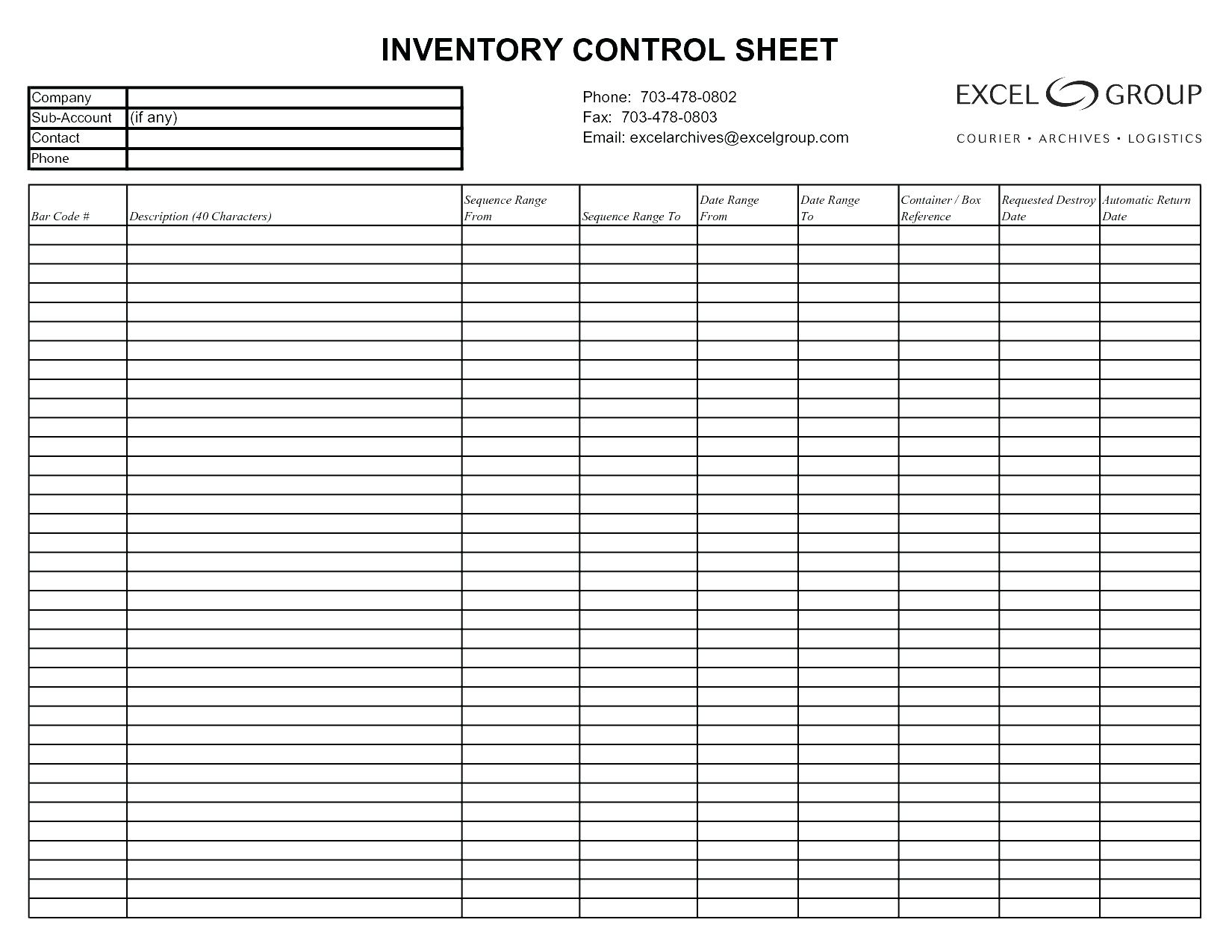 Printable Excel Log Template With Excel Log Template Format