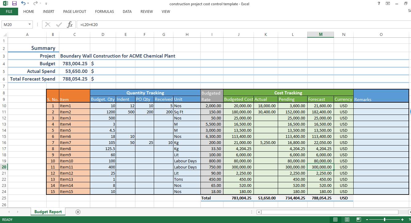 Printable Excel Spreadsheet For Construction Project To Excel Spreadsheet For Construction Project In Workshhet