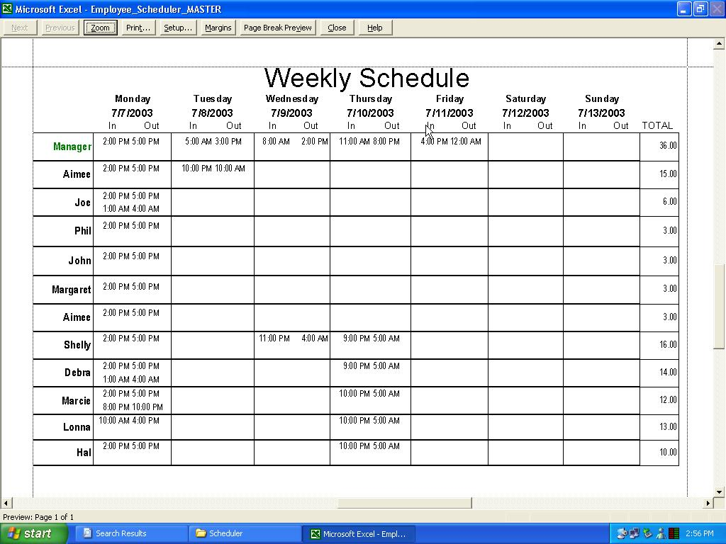 Printable Excel Spreadsheet Scheduling Employees Intended For Excel Spreadsheet Scheduling Employees For Google Spreadsheet