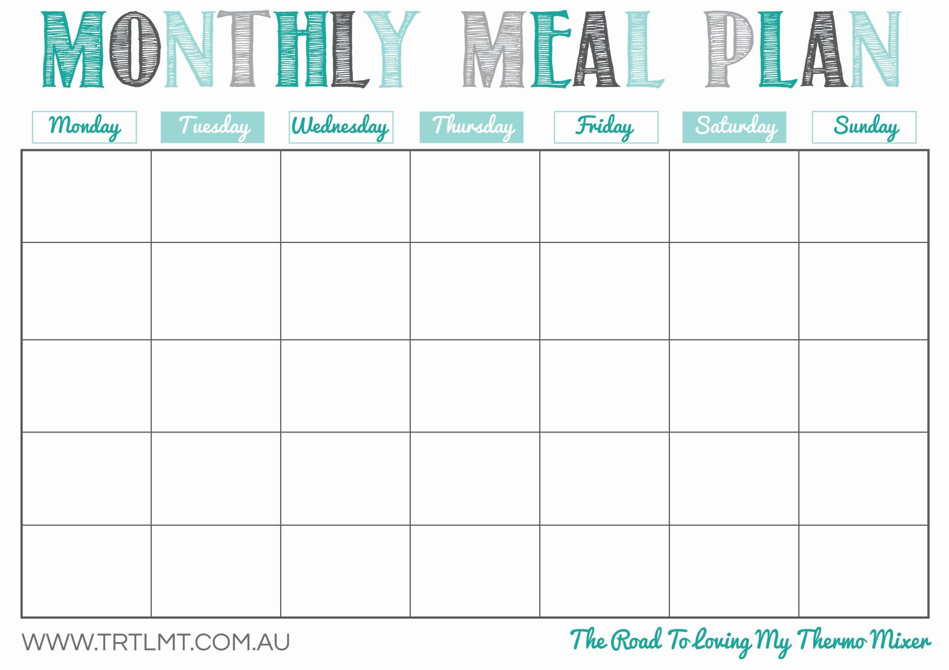 Printable Meal Plan Template Excel Intended For Meal Plan Template Excel For Personal Use