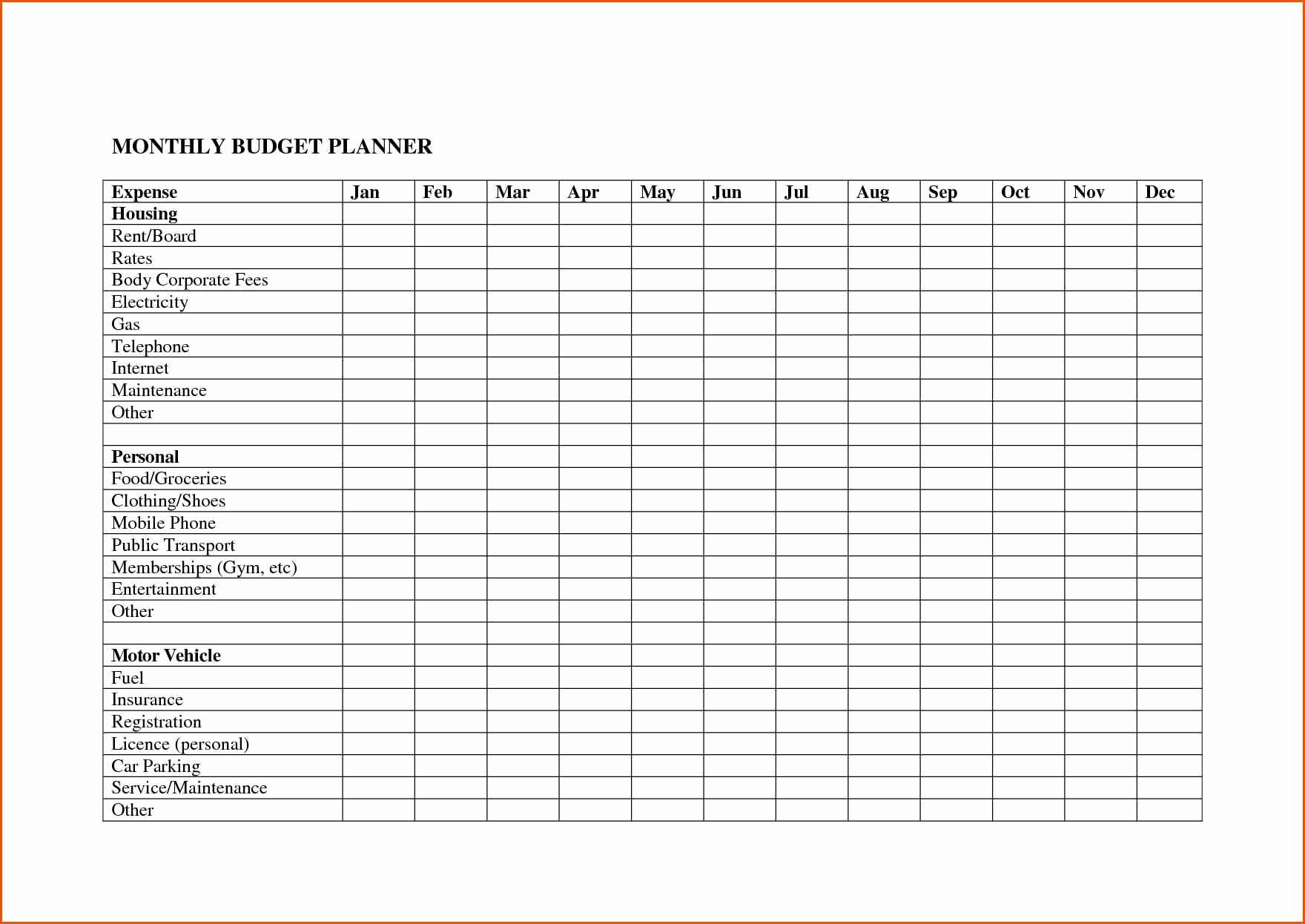 Printable Monthly Bill Organizer Template Excel Inside Monthly Bill Organizer Template Excel In Workshhet