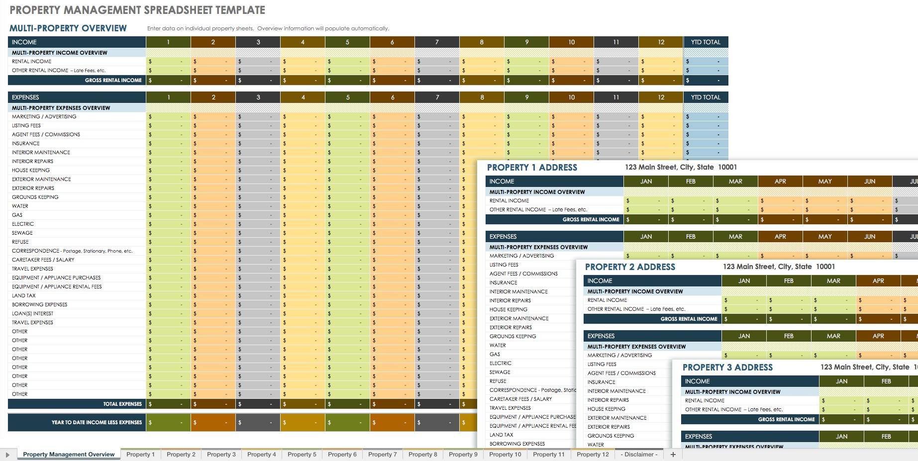 Printable Property Management Budget Template Excel In Property Management Budget Template Excel Sample