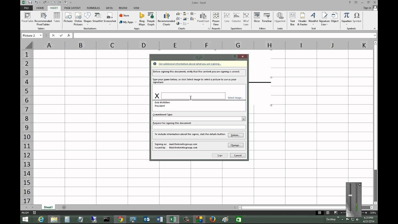 Sample Of Add Signature To Excel Worksheet For Add Signature To Excel Worksheet In Workshhet