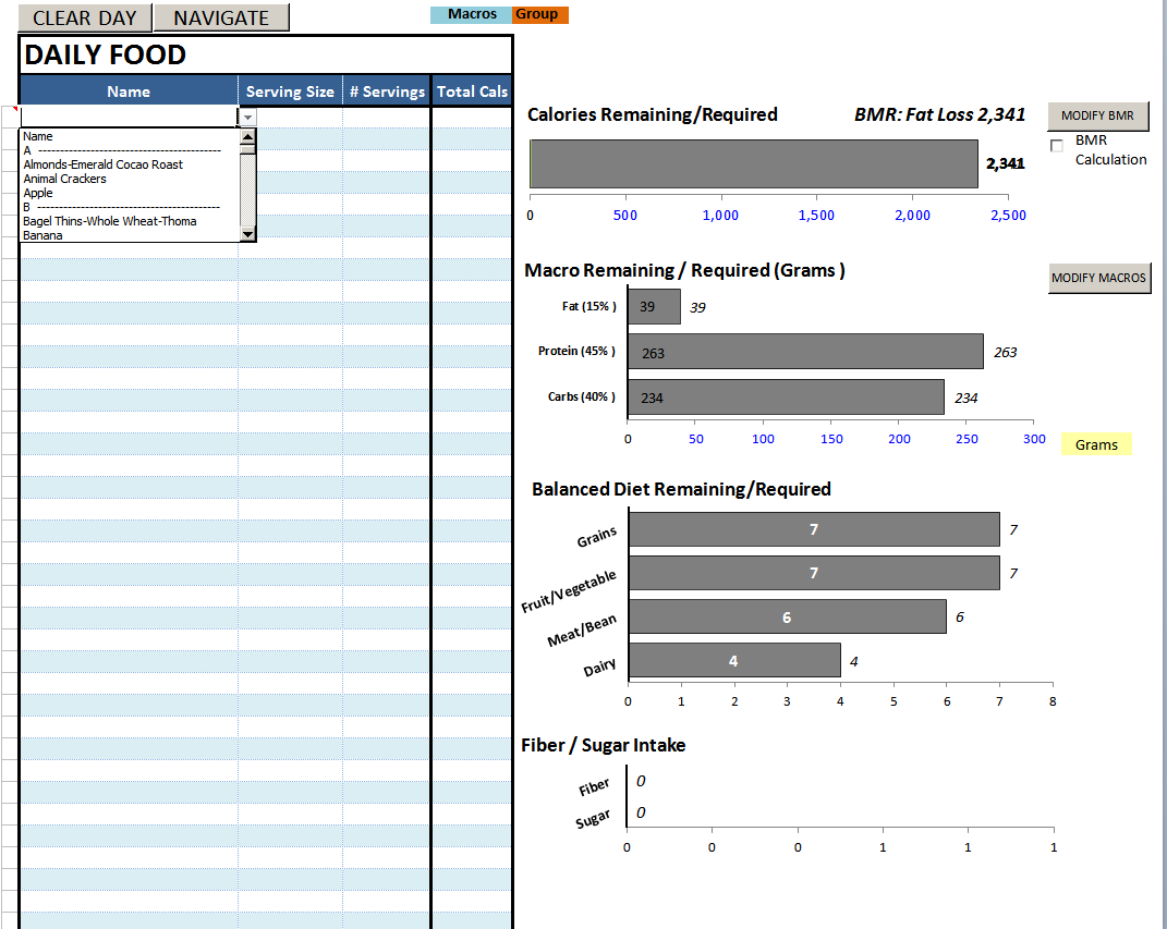 Sample Of Diet Excel Spreadsheet With Diet Excel Spreadsheet Sheet