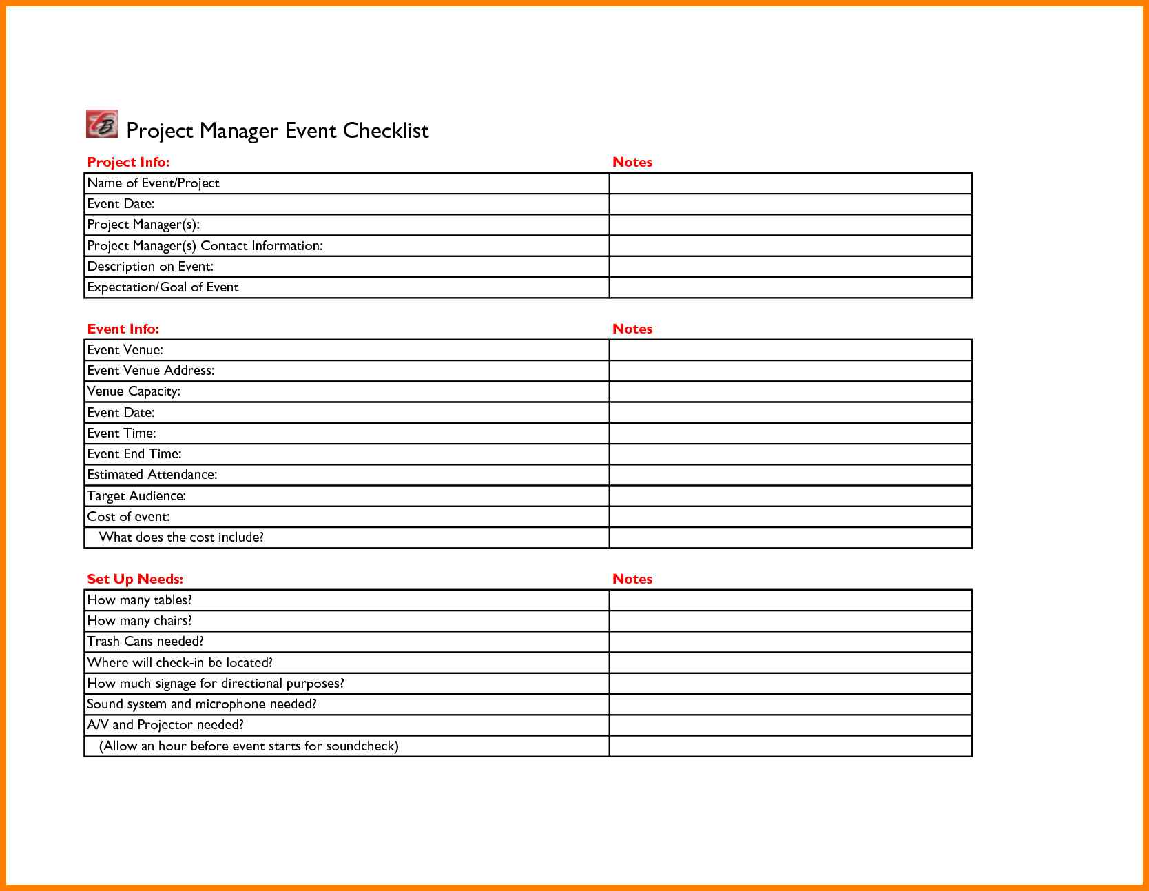 Sample Of Event Planning Checklist Template Excel Intended For Event Planning Checklist Template Excel Download