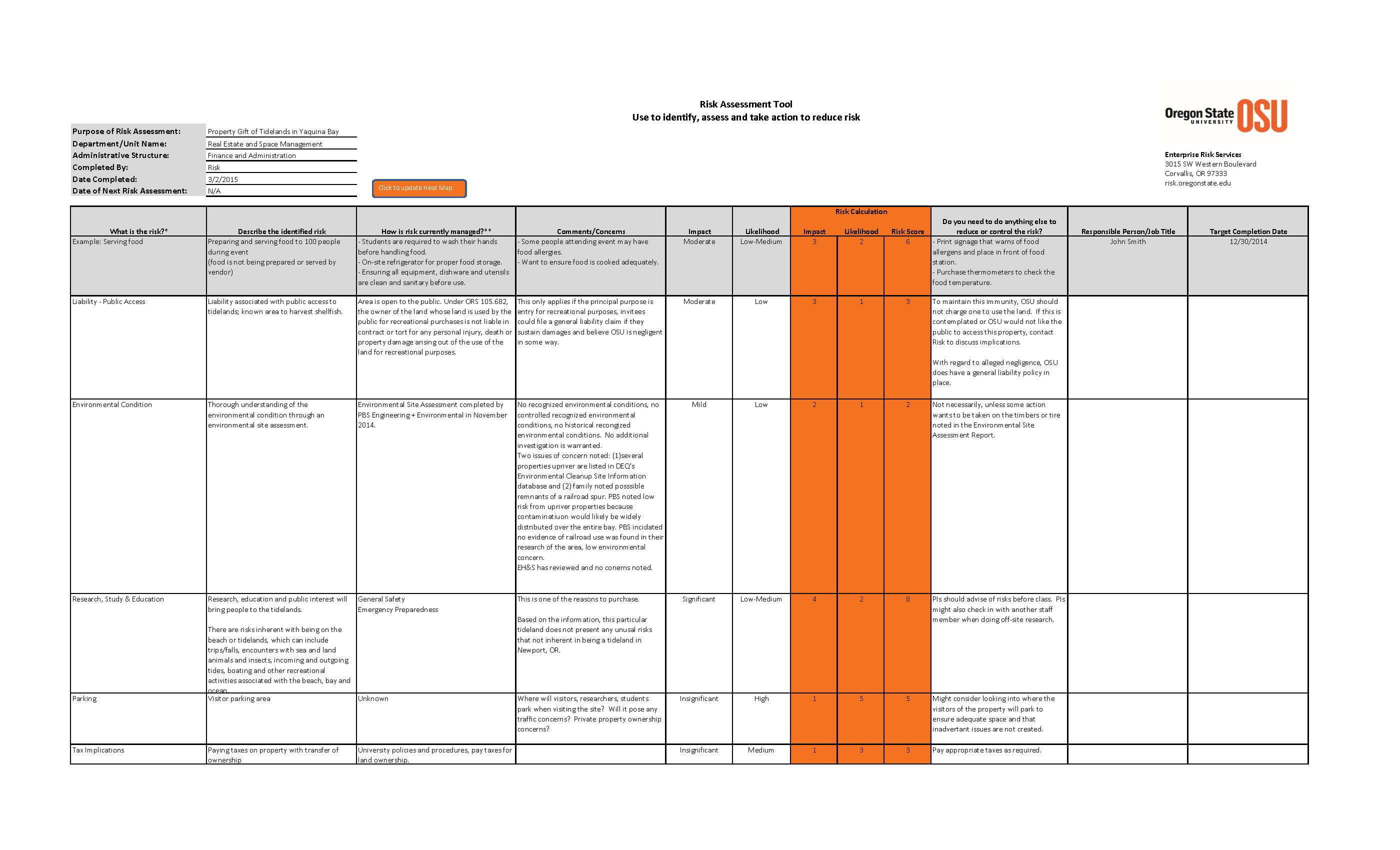 Sample Of It Risk Assessment Template Excel With It Risk Assessment Template Excel Sheet