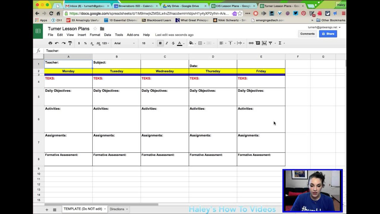 Sample Of Lesson Plan Template Excel Spreadsheet With Lesson Plan Template Excel Spreadsheet Letter