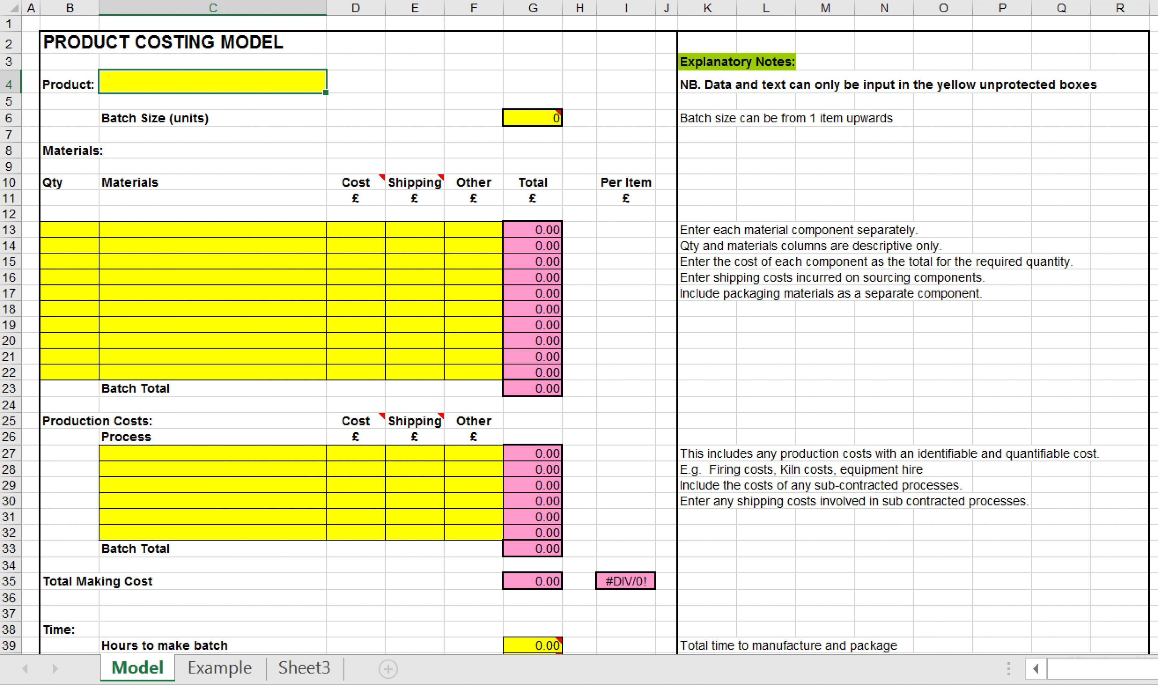 Sample Of Product Cost Analysis Template Excel Throughout Product Cost Analysis Template Excel Example