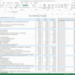 Sample of Wedding Budget Template Excel with Wedding Budget Template Excel Templates