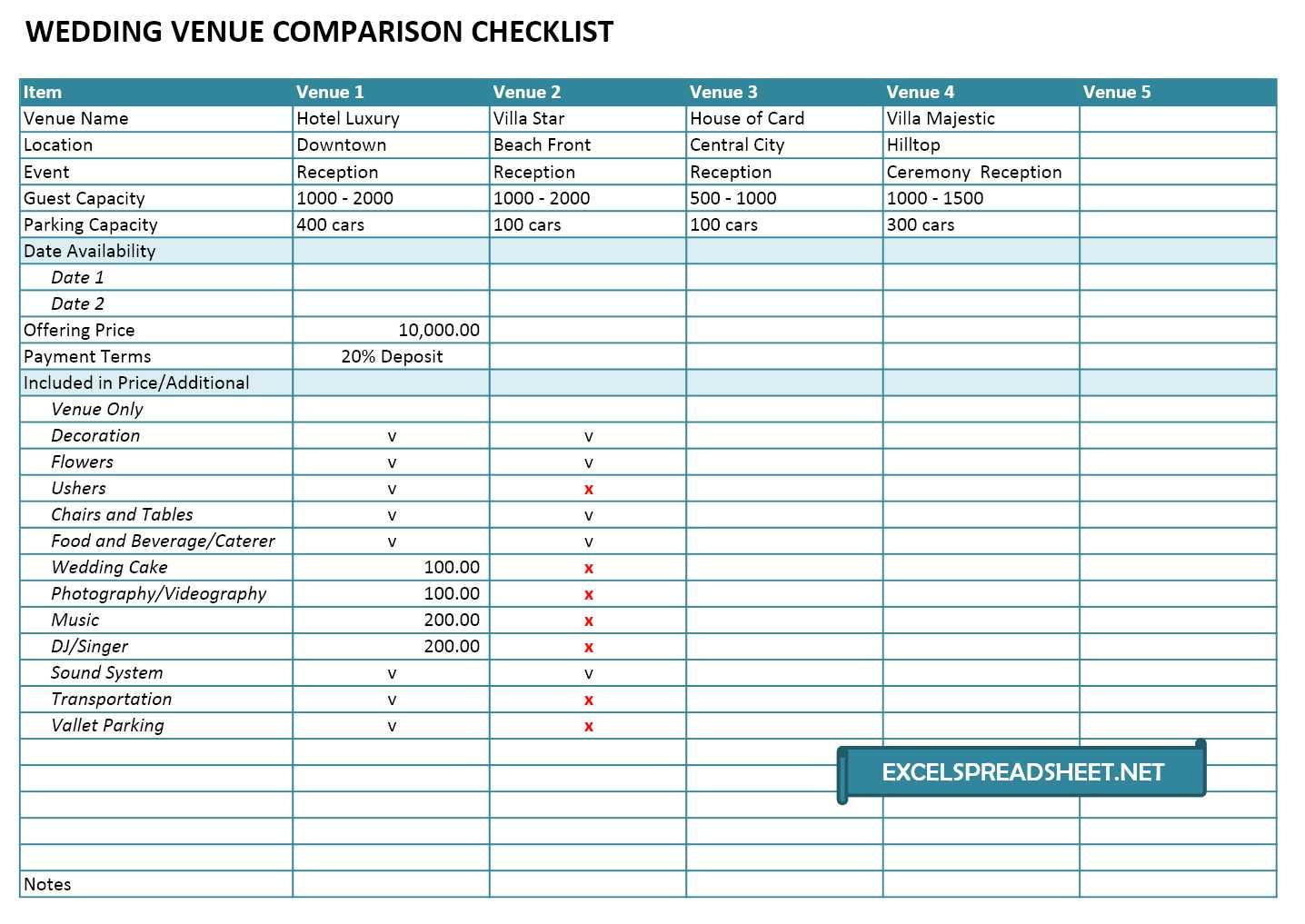 sample of wedding excel spreadsheet inside wedding excel