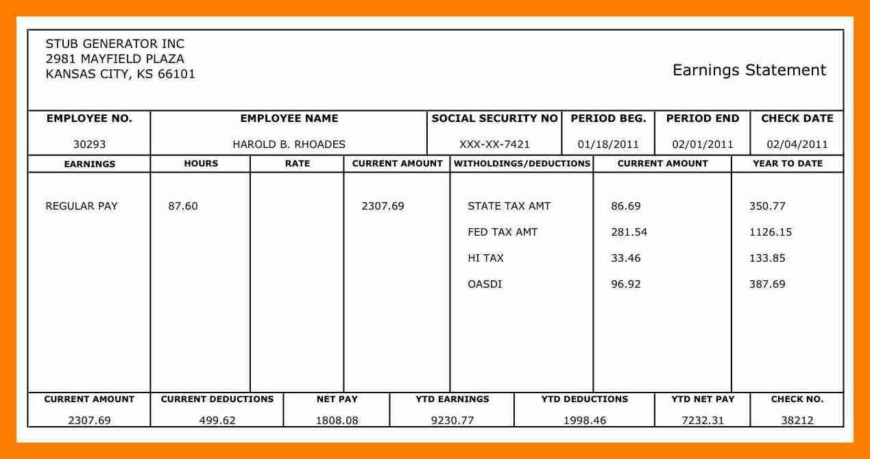 Samples Of 1099 Pay Stub Template Excel In 1099 Pay Stub Template Excel Download For Free
