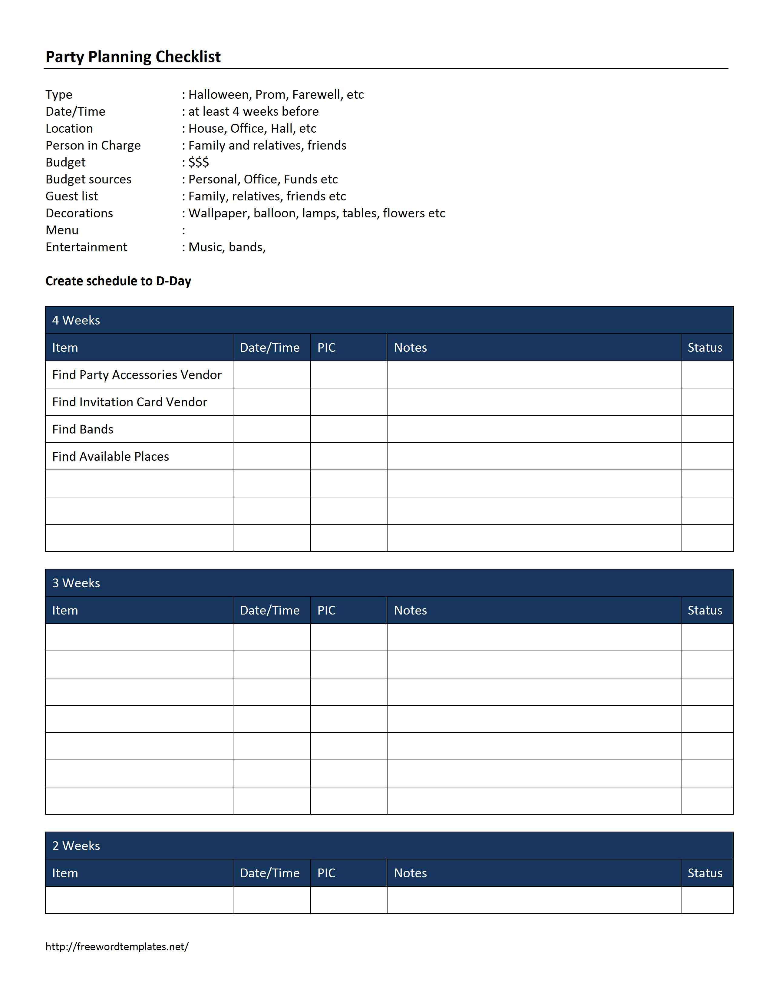 Samples Of Event Planning Checklist Template Excel Throughout Event Planning Checklist Template Excel For Free